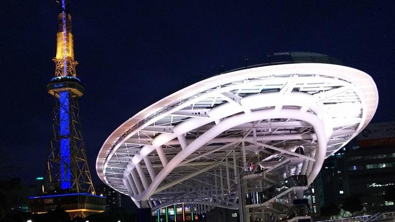 名古屋のオアシス21の夜景